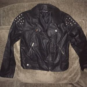 Disney faux leather moto jacket.